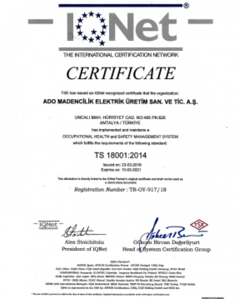 ISO 18001:2014